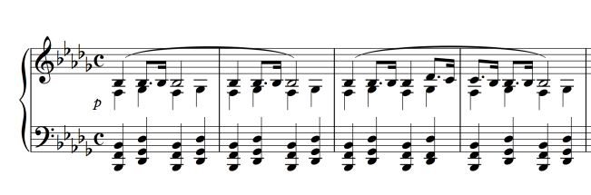 Chopin: Piano Sonata No. 2, Op. 35 Funeral March (Measures 1-4)